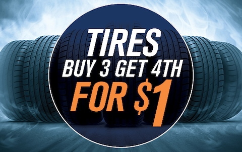 TIRES – BUY 3, GET 4TH FOR $1
