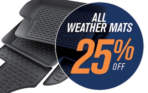 25% OFF ALL WEATHER MATS