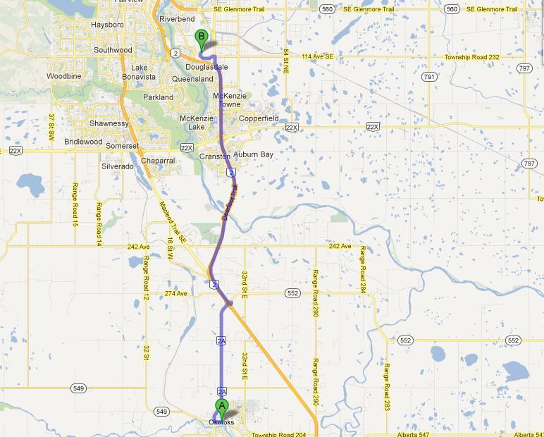 Directions to Okotoks area Chevrolet GMC Buick Dealer in Alberta