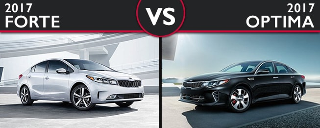 Kia Forte vs. Kia Optima in Fair Lawn NJ