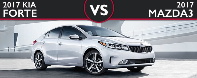 Kia Forte vs. Mazda3 Sedan in Fair Lawn NJ