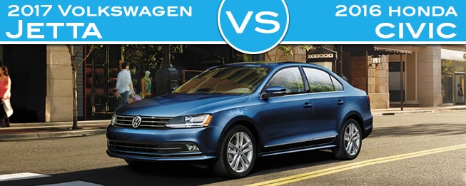 2017 Volkswagen Jetta vs 2016 Honda Civic in Fair Lawn NJ