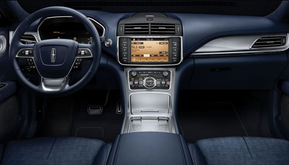 The luxurious interior of the 2019 Lincoln Black Label Continental
