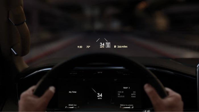 Heads up display available inside the 2019 Lincoln Navigator