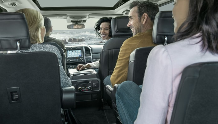 The spacious interior of the 2019 Ford Expedition