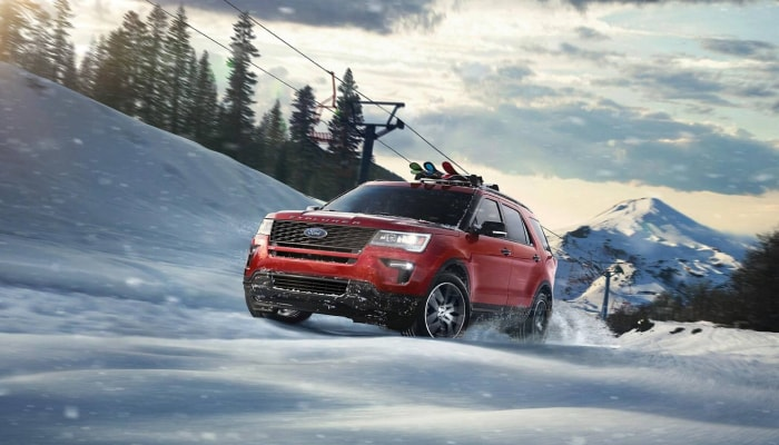 The 2019 high performance Ford Explorer, available at Jack Demmer Ford near Dearborn, MI