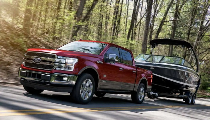 The 2019 Ford F-150 is a high performance pickup truck