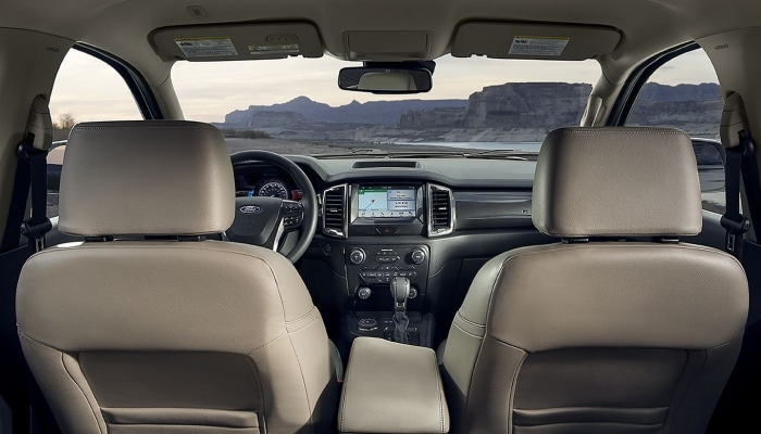 The comfortable interior of the 2019 Ford Ranger