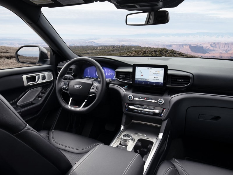 The spacious interior of the 2020 Ford Explorer