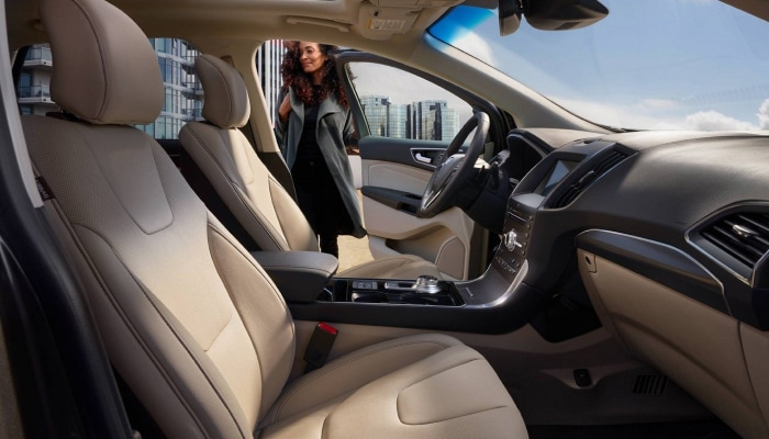 The spacious interior of the 2019 Ford Edge