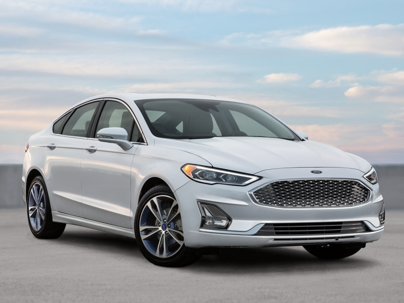 The sleek exterior of the 2020 Ford Fusion
