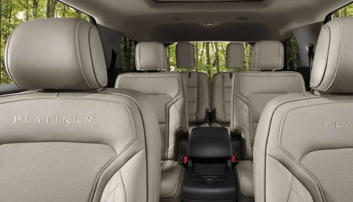 The spacious interior of the 2019 Ford Explorer, available at Jack Demmer Ford near Dearborn, MI