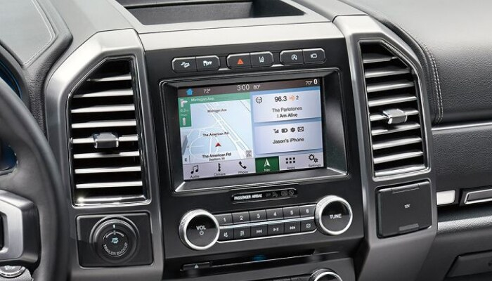 Touchscreen display inside the 2019 Ford Expedition
