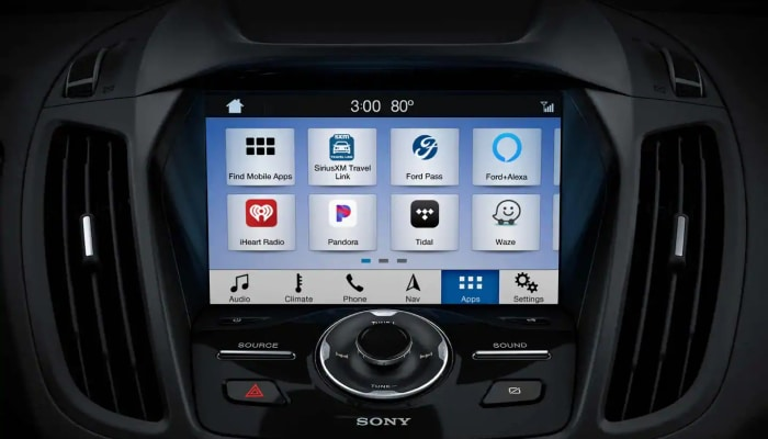 Touchscreen display inside the 2019 Ford Escape