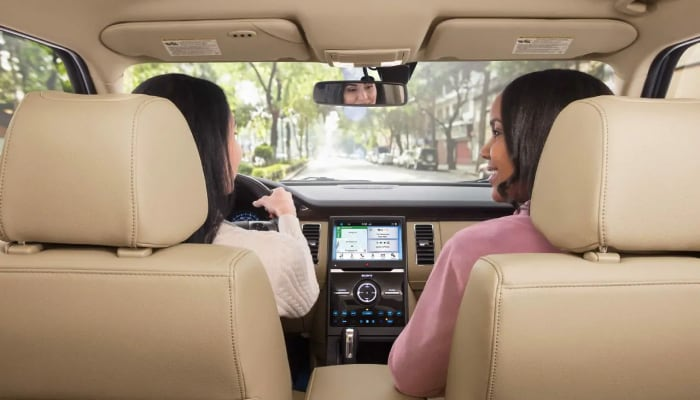 The spacious interior of the 2019 Ford Flex