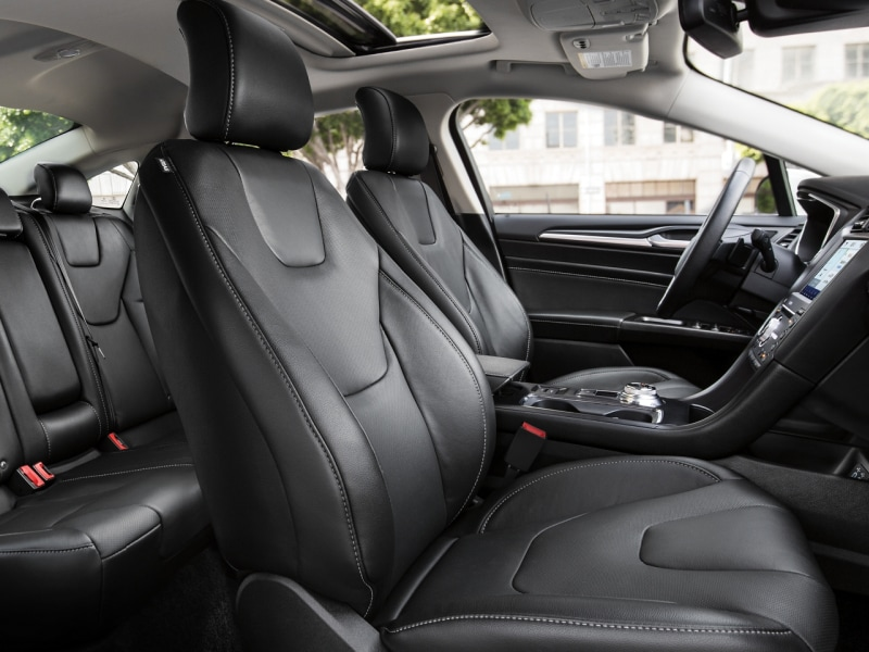 The spacious interior of the 2020 Ford Fusion