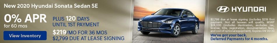 New 2020 Hyundai Sonata Sedan SE