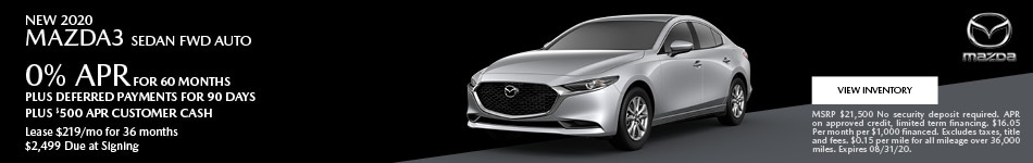 New 2020 Mazda3 Sedan FWD Auto