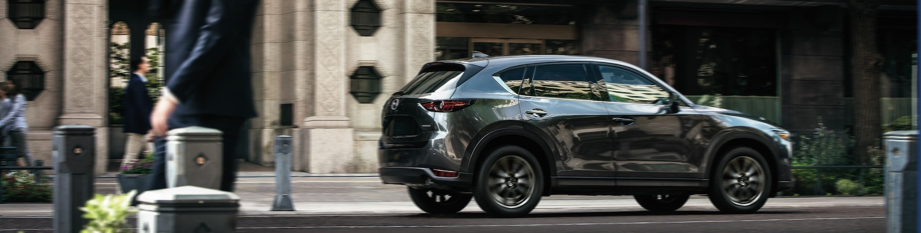 Jack Giambalvo Mazda is a Car Dealership near Lancaster PA | 2020 Mazda CX-5 driving downtown
