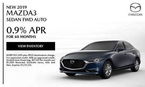 New 2019 Mazda3 Sedan FWD Auto