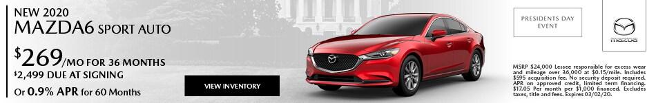 New 2020 Mazda6 Sport Auto