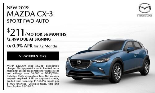 New 2019 Mazda CX-3 Sport FWD Auto