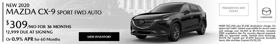 New 2020 Mazda CX-9 Sport FWD Auto