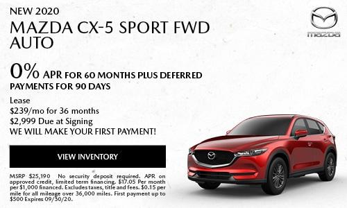New 2020 Mazda CX-5 Sport FWD Auto