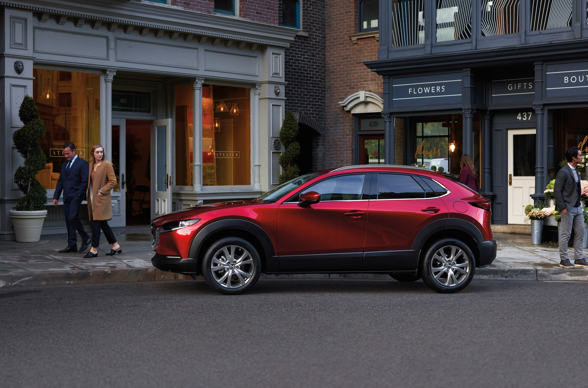 Jack Giambalvo Mazda is a Car Dealership near Hallam PA | 2020 Mazda CX-30 parked in front of shops