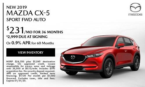 New 2019 Mazda CX-5 Sport FWD Auto