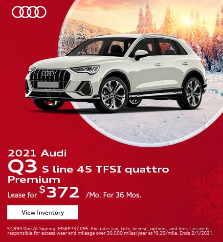 January 2021 Audi Q3 S line 45 TFSI quattro Premium Offer