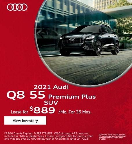 January 2021 Audi Q8 55 Premium Plus SUV Offer