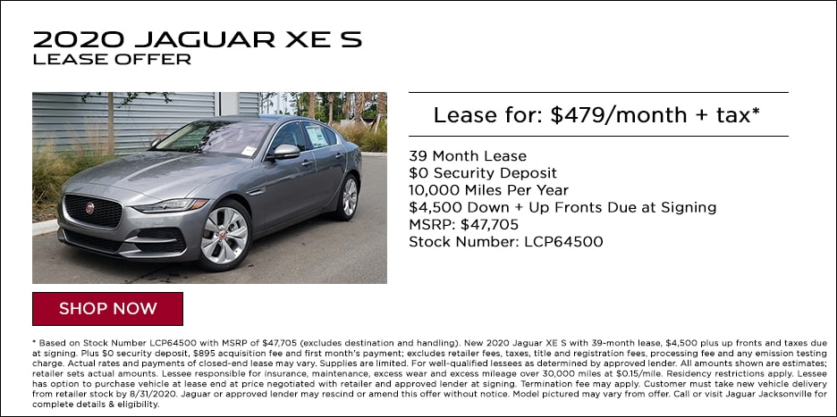 2020 JAGUAR XE S LEASE OFFER - $479/MO + TAX