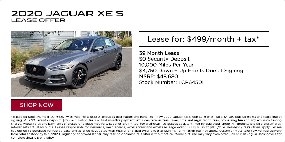 2020 JAGUAR XE S LEASE OFFER - $499/MO + TAX*