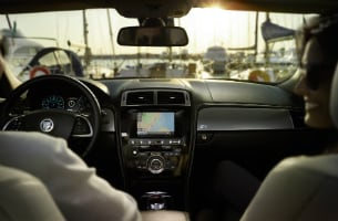 XKR Interior Warm Charcoal Ivory
