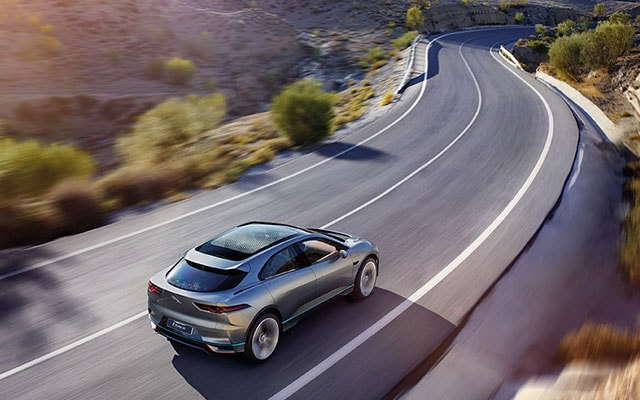 Exterior of the Jaguar I-Pace in Motion
