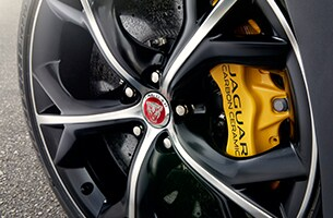 F-TYPE 20 inch Storm Forged Black and Diamond Turned alloy wheel