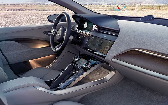 Stylish interior of the Jaguar I-Pace
