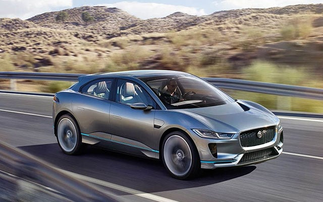 Exterior of the Jaguar I-Pace