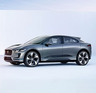 Exterior of the Jaguar I-Pace.