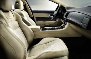 Jaguar XFR Interior Ivory seats