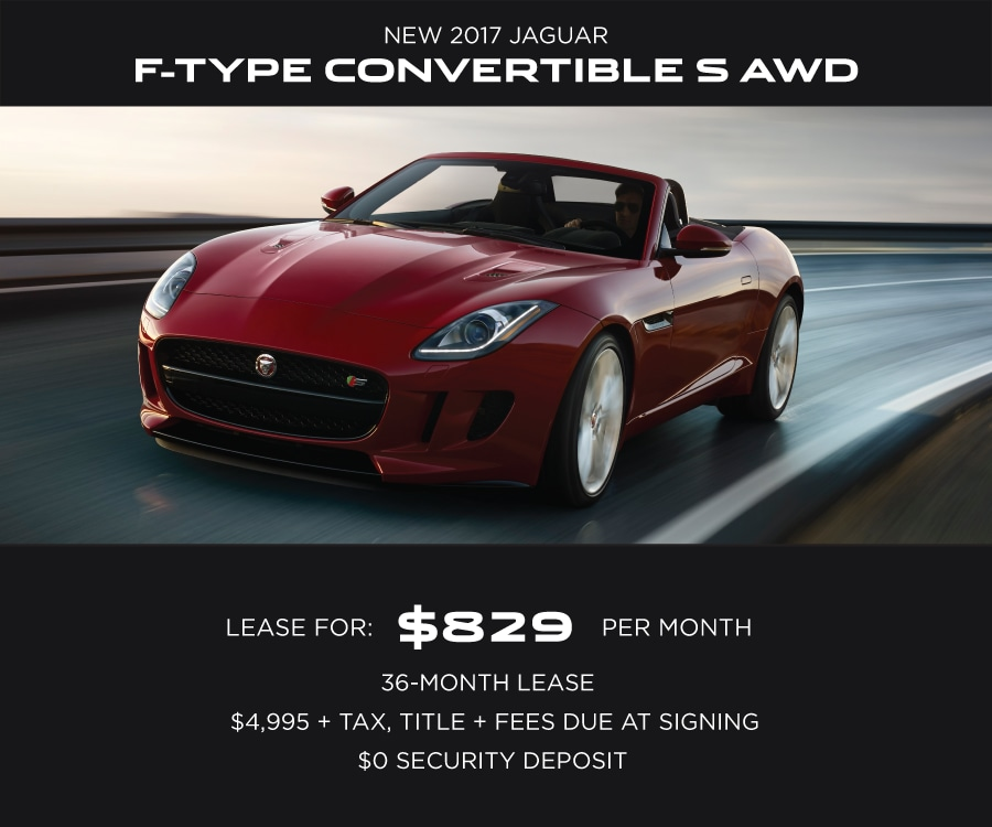 Jaguar F-TYPE Special Offer