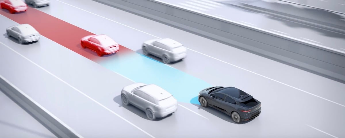 Jaguar Adaptive Cruise Control Demonstration