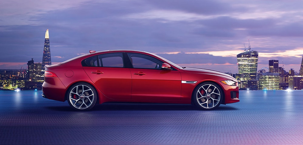 Side view of 2018 Jaguar XE
