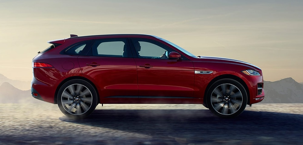 Side view of 2018 Jaguar F-PACE