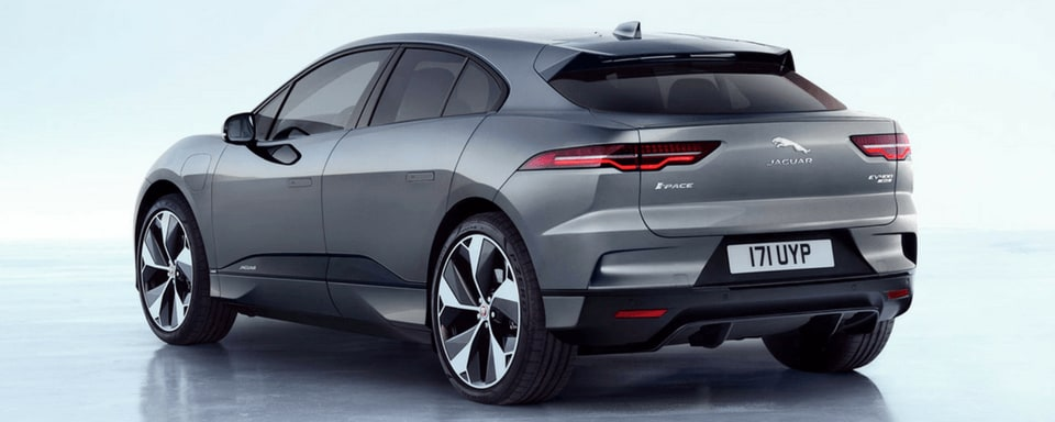 Jaguar I-PACE rear 3/4 view