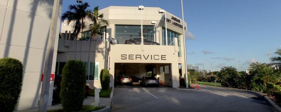 Jaguar Fort Lauderdale service center entrance