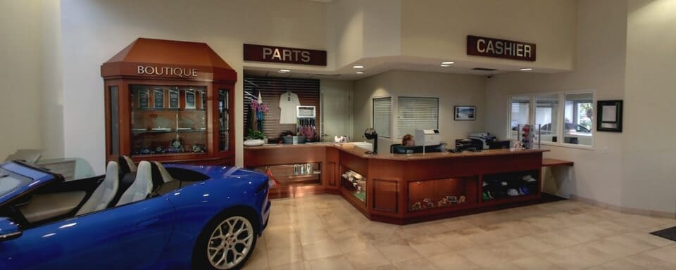 Jaguar Fort Lauderdale parts department and cashier