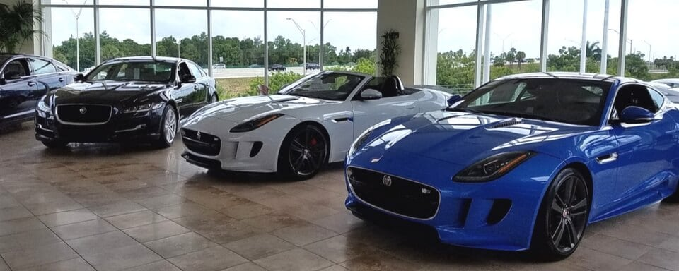 Jaguar Fort Lauderdale showroom with new vehicles for sale