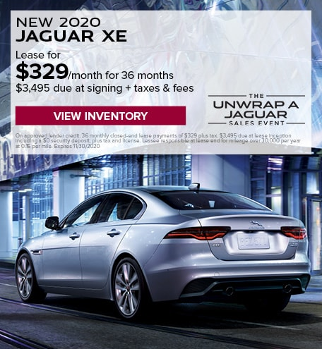 LEASE: 2020 XE P250 S RWD $329/month for 36 months at $39,900 MSRP*